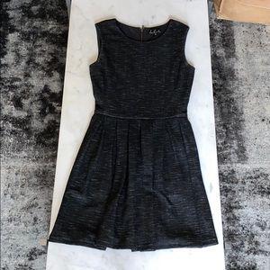 Heathered black pleated dress from Aritzia